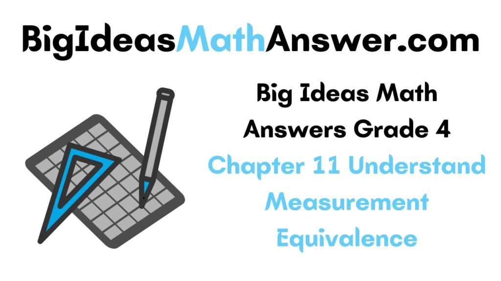 Big Ideas Math Answers Grade 4 Chapter 11