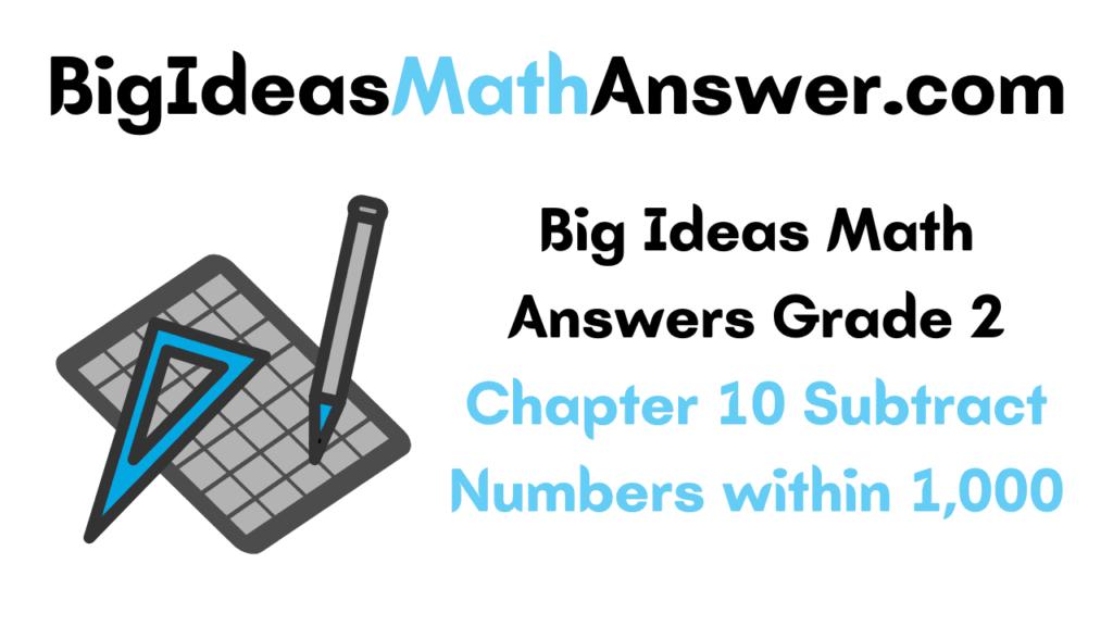 Big Ideas Math Answers Grade 2 Chapter 10