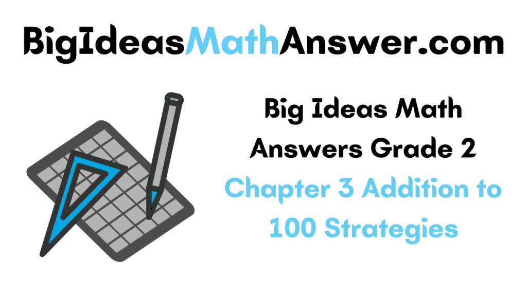 Big Ideas Math Answers Grade 2 Chapter 3