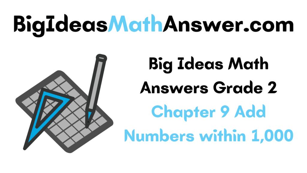 Big Ideas Math Answers Grade 2 Chapter 9