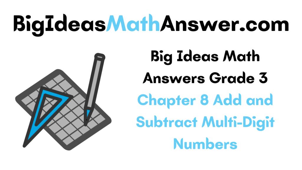 Big Ideas Math Answers Grade 3 Chapter 8